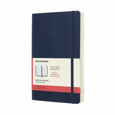 2020 Daily Sapphire Blue Large Softcover Diary Moleskine