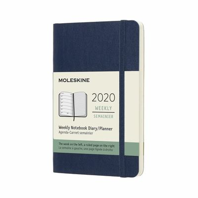 2020 Weekly Notebook Sapphire Blue Pocket Softcover Diary Moleskine