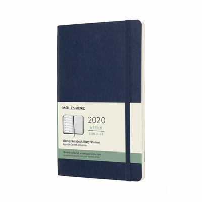2020 Weekly Notebook Blue Large Soft Diary Moleskine