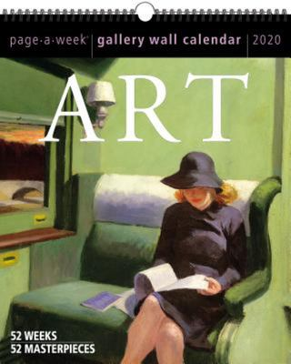 Art Page-A-Week Gallery Wall Calendar 2020