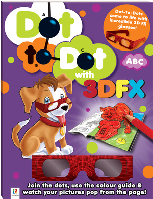 3D Dot to Dot Colouring Activity ABC