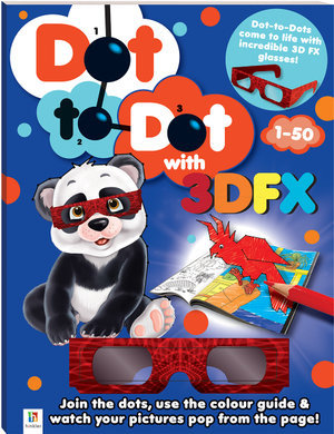 3D Dot to Dot Colouring Activity 1-50