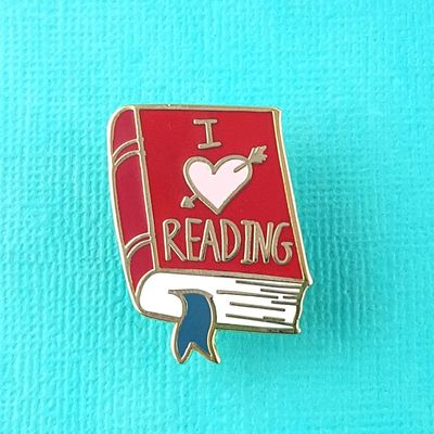 I Heart Reading Jubly-Umph Lapel Pin