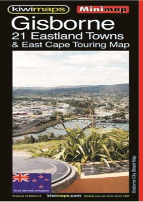 Kiwi Maps Gisborne 21 Eastland Towns & East Cape Touring Map