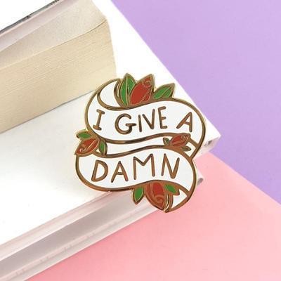 I Give A Damn Lapel Pin