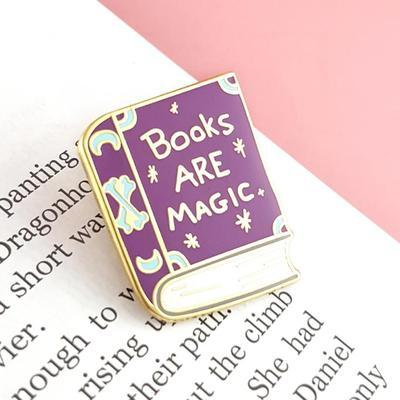 Large books are magic lapel pin2 400x