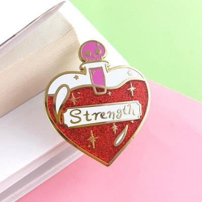 Large solution of strength jubly umph lapel pin