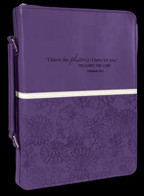 Bible Cover (Purple, Large) I Know the Plans Large: Jeremiah 29:11