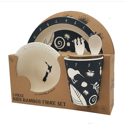 5 Piece Bamboo Kids set - Kia Ora B&W