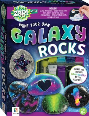 PAINT YOUR OWN GALAXY ROCKS - BOX SET