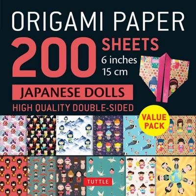 Origami Paper: Japanese Dolls (200 Sheets: 6 Inches 15cm)