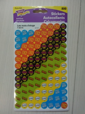 French Dot Stickers (800)