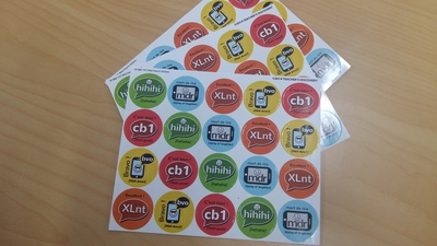 Txt Msg French Stickers - pack of 60
