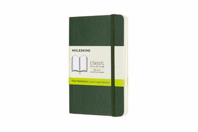 Moleskine - Classic Soft Cover Notebook - Plain - Pocket - Myrtle Green