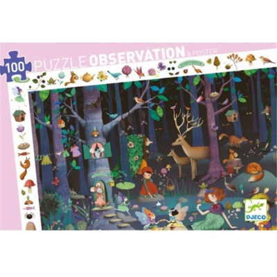 Djeco Enchanted Forest 100pc Puzzle