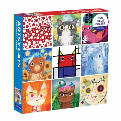 Artsy Cats 500 Piece Family Jigsaw Puzzle