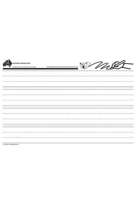 WB3000 Magnetic Writing Sheets Dotted Thirds 2 sheets 400 x 600mm - ATA