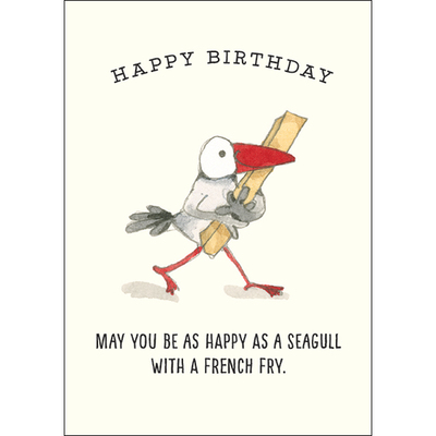 Mini Card - T346 Happy Birthday - Happy as a seagull...