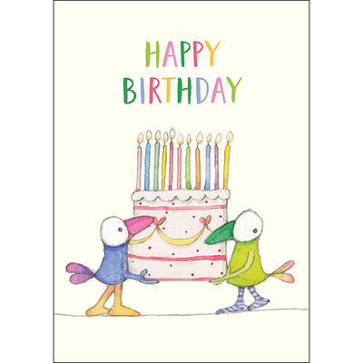 T345 Happy Birthday - Cake Mini Card