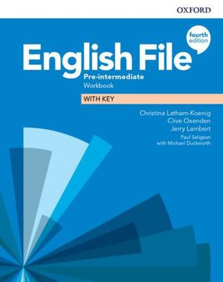 English File 4th edition - Pre-Intermediate Workbook with key