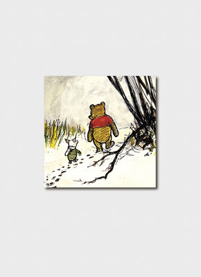 Pooh and Piglet Walking Card