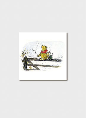 Pooh and Piglet on a Fence Card BIP 5531