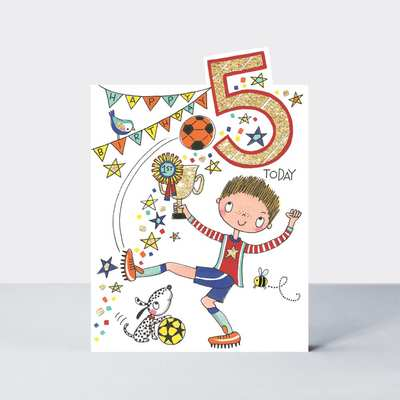 5 Today Soccer Birthday Card