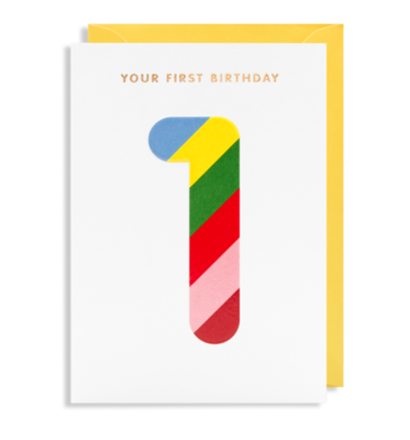 Magic Numbers Age 1 Birthday Card