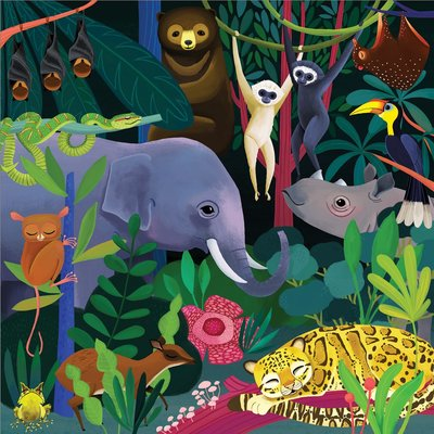 Glow in the Dark Jungle Illuminated 500pc Puzzle