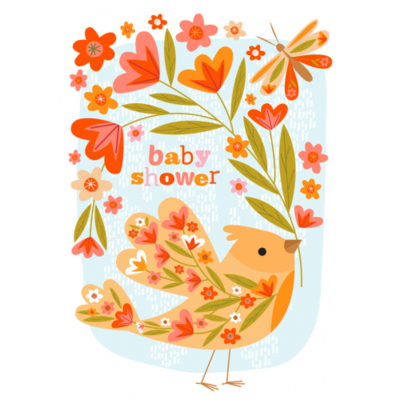 Baby Shower Bird - Little Red Owl