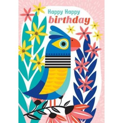 Happy Birthday Jungle Parrot - Little Red Owl