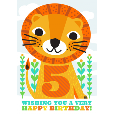 5th Birthday Lion - Little Red Owl