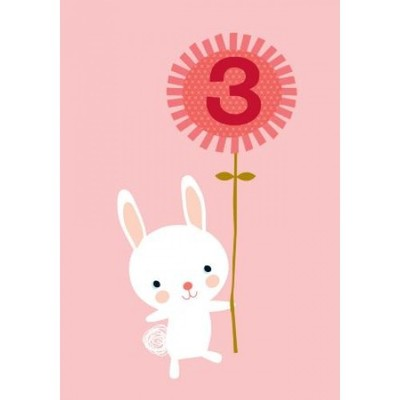 3rd Birthday Rabbit - Little Red Owl