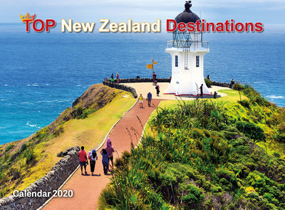 Top New Zealand Destinations 2020  Wall Calendar 210mm x285mm