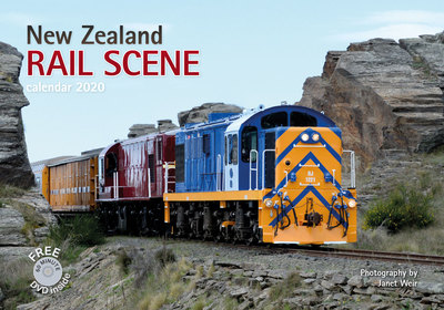 New Zealand Rail Scene (free dvd) 2020  Wall Calendar 245mm x 350mm