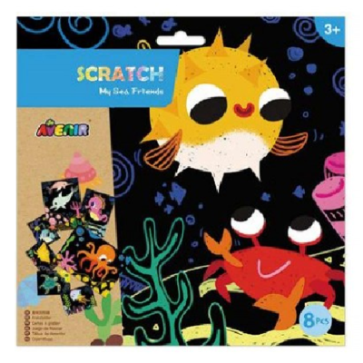 My Sea Friends Scratch Art Kit