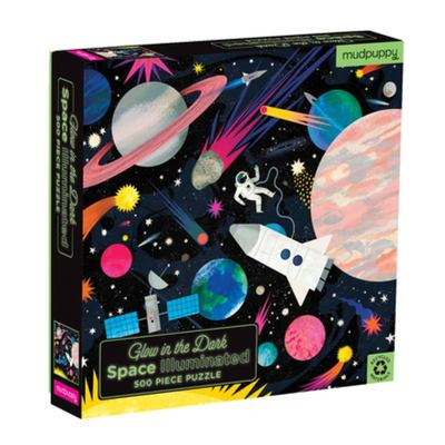 Glow in the Dark Space Illuminated Jigsaw Puzzle (500 pce)