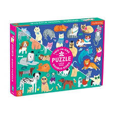 Cats and Dogs Double-Sided Jigsaw Puzzle 100 Pieces
