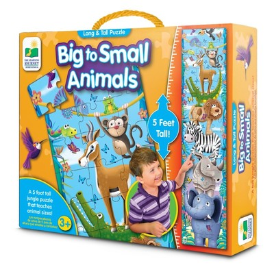 Long & Tall Puzzle - Big to Small Animals (50 pce)