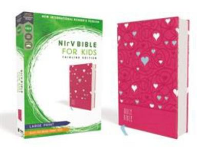 NIrV, Bible for Kids, Large Print, Leathersoft, Pink, Comfort Print - Thinline Edition