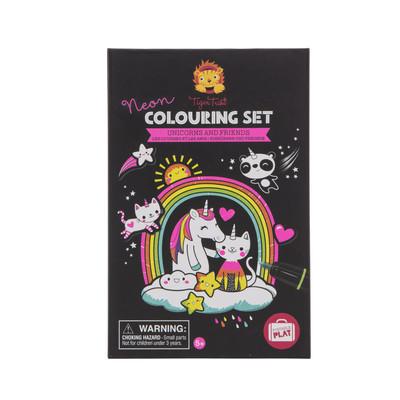 Unicorns and Friends Neon Colouring Set