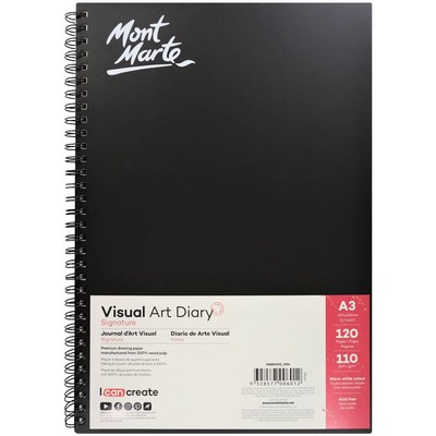 Large mont marte signature visual art diary a3 120page msb0002 v02 f2