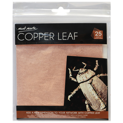 Large mont marte copper leaf 25 sheets maxx0023 v02 f2