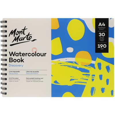 MM Watercolour Book 190gsm A4 MSB0122
