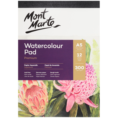 MSB0067 MM Watercolour Pad German Paper A5 300gsm 12sht