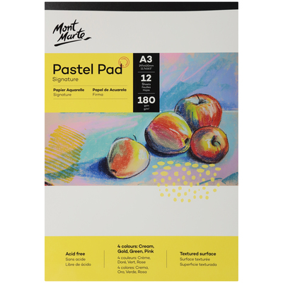 MM Pastel Pad acid free 4 colours 180gsm A3 MSB0051