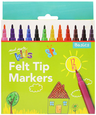 MM Felt Tip Markers 12pc - Basics MMKC0193