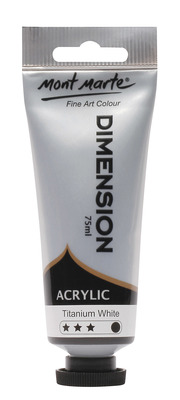 PMDA0001 MM Dimension Acrylic 75mls - Titanium White