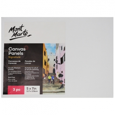 CMPL1318 MM Canvas Panels Pack 3 12.7x17.8cm