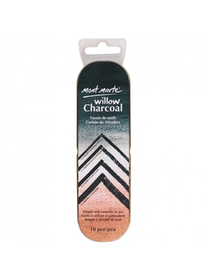 Large mont marte signature willow charcoal 10pc mpn0043 v02 f2